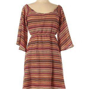 Judith March Off The Shoulder Flutter Sleeve Dress